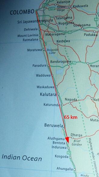 Bentota Map