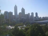 Der Dunst über Perth täuscht ein wenig, es wird ein sonniger Tag
