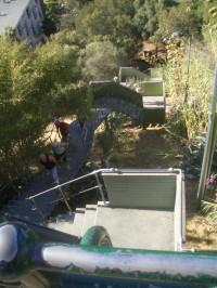 Jacob's Ladder in Perth: die Leute hier haben keinen Weg, sondern wahrscheinlich keinen Job und verbessern ihre Fitness. Rauf, runter, rauf, runter...
